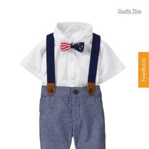 Gymboree Americana boys outfit